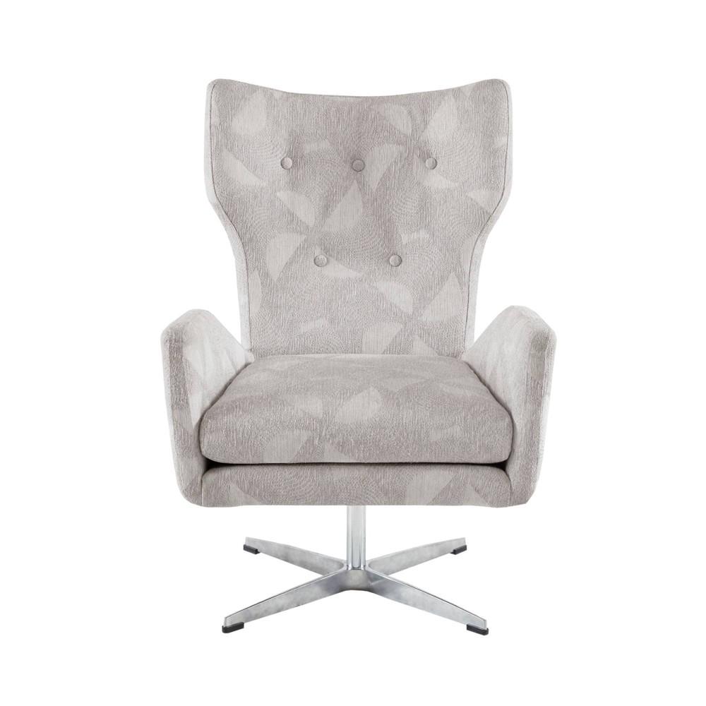 Becky Swivel Chair Light Gray