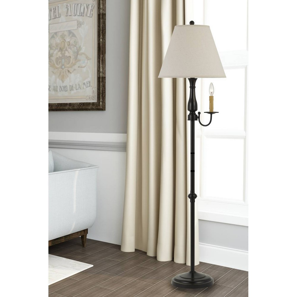 Image of 100W Monroe Metal Floor Lamp Dark Bronze - Cal Lighting