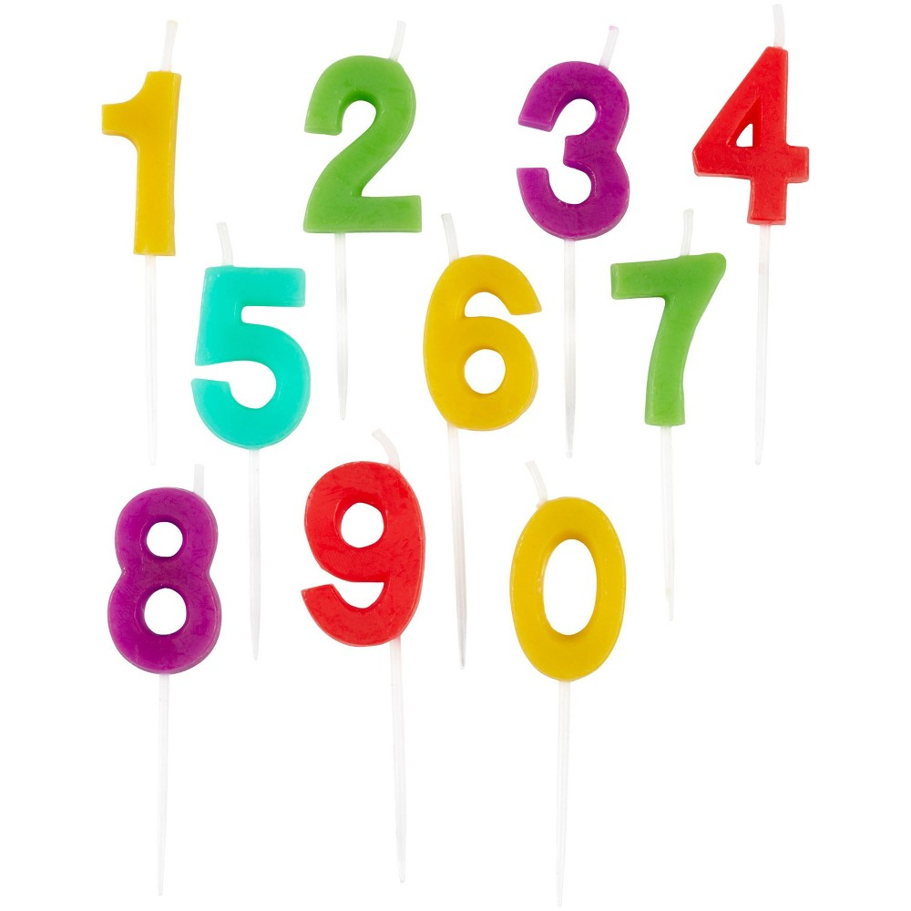 Wilton Numeral Candle Set 10ct