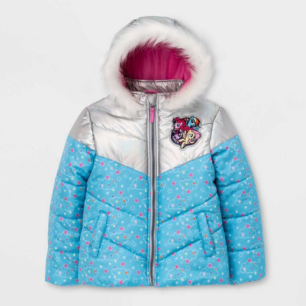Image of Girls' My Little Pony Puffer Jacket - Blue 4, Girl's