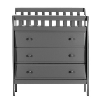 Dream On Me Marcus Changing Table and Dresser - Dark Gray