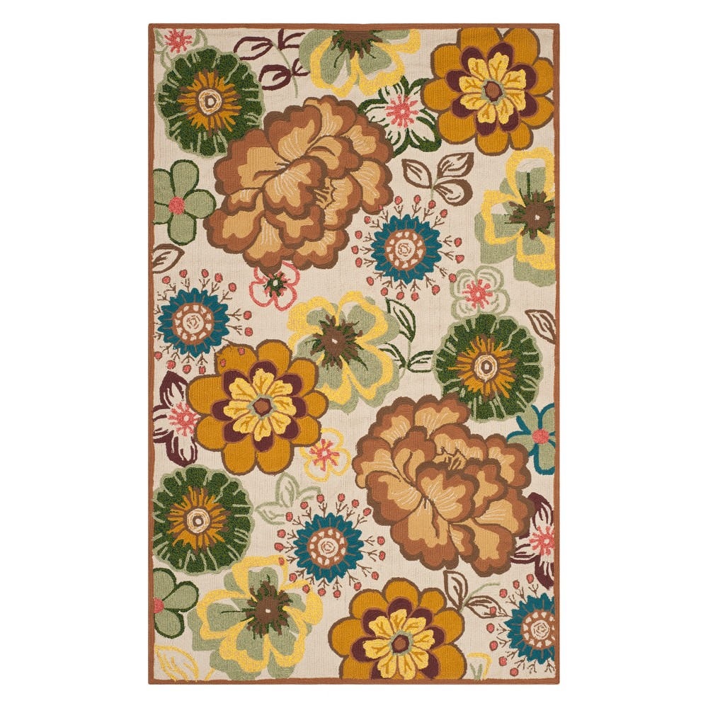5X8 Floral Area Rug Ivory/Brown - Safavieh Compare