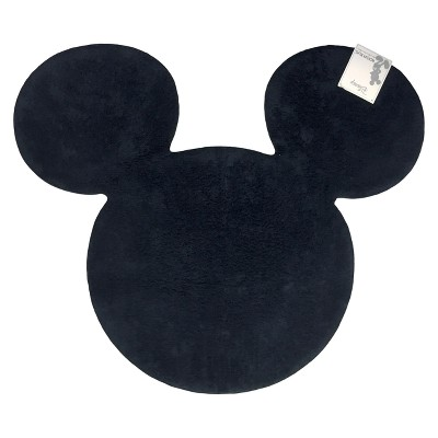Disney Mickey Mouse & Friends Mickey Mouse 3' Round Silhouette Rug Black