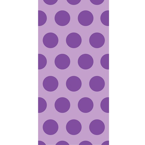 20ct Creative Converting Amethyst Purple Polka Dot Favor Bags - image 1 of 1