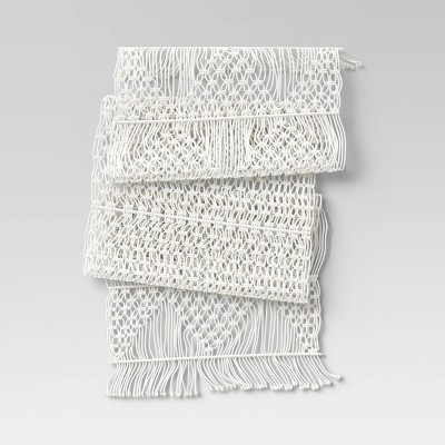 Cotton Macrame Runner White - Opalhouse™