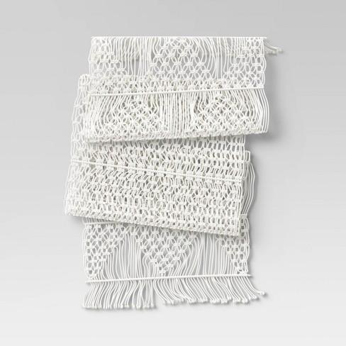Cotton Macrame Runner White - Opalhouse™ - image 1 of 3