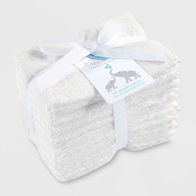 Hudson Baby 10pk Rayon from Bamboo Washcloths - White One Size