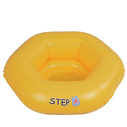 """Pool Central 26"""" Yellow Inflatable STEP A Swimming Pool Baby Seat Float - image 1 of 1"""