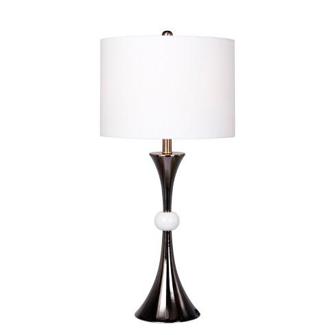 Trumpet Base Marble Table Lamp White Black Lamp Target
