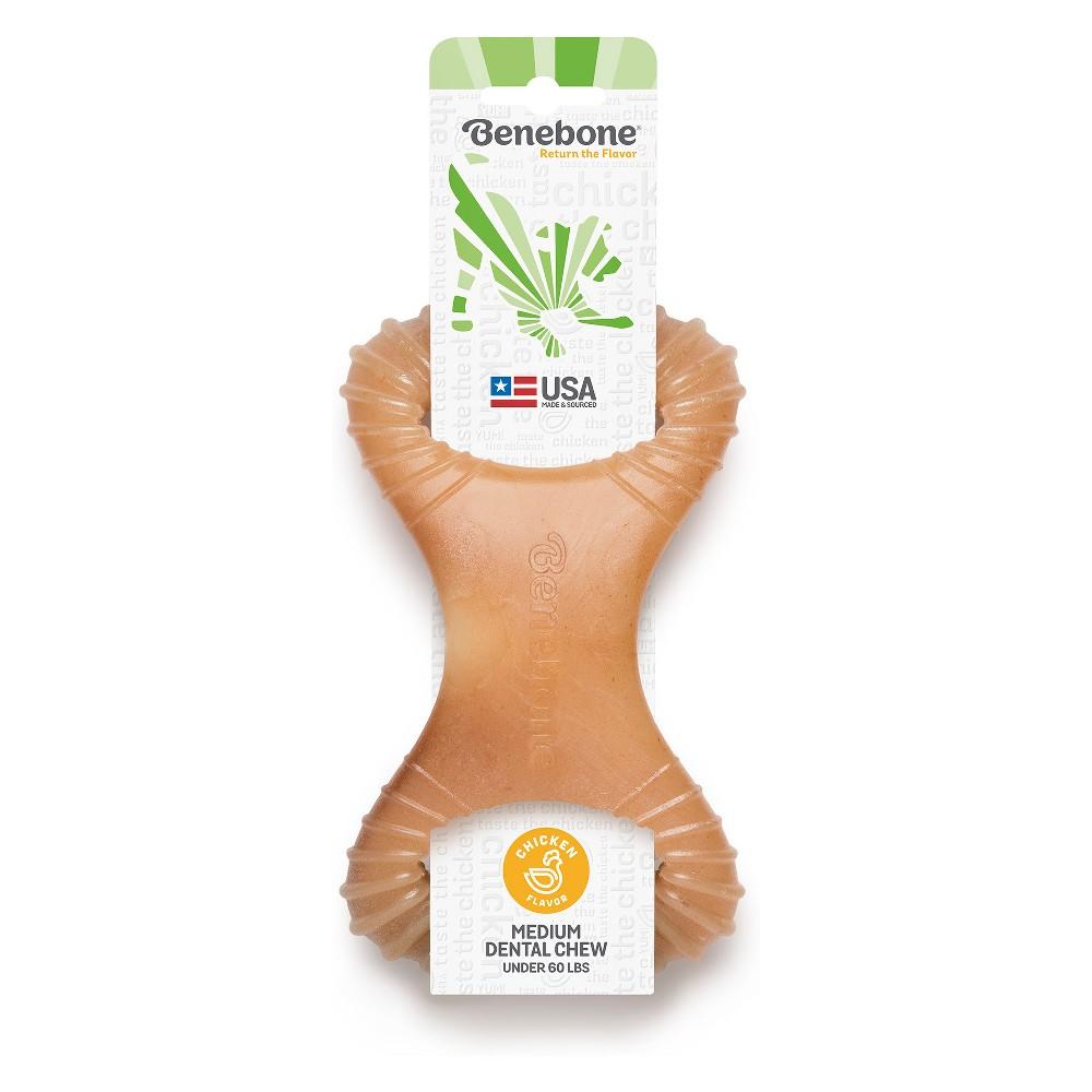 Benebone Medium Chicken Dental Dog Chew Toy, Brown