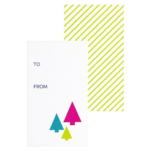 Bright Christmas Trees Gift Tag - image 1 of 1