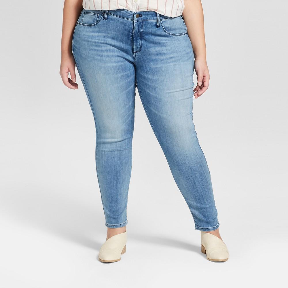 Women's Plus Size Jeggings - Universal Thread Light Wash 22W, Blue