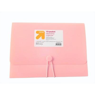 13 Pocket Expanding File Folder Organizer Letter Size Blush - up & up™