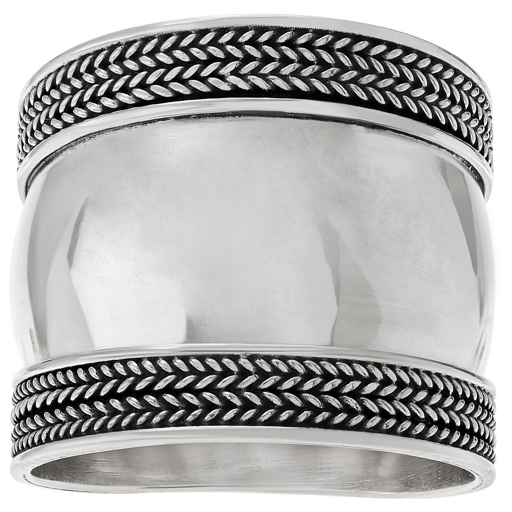 Women's Journee Collection Bali Design Ring in Sterling Silver - Silver, 9