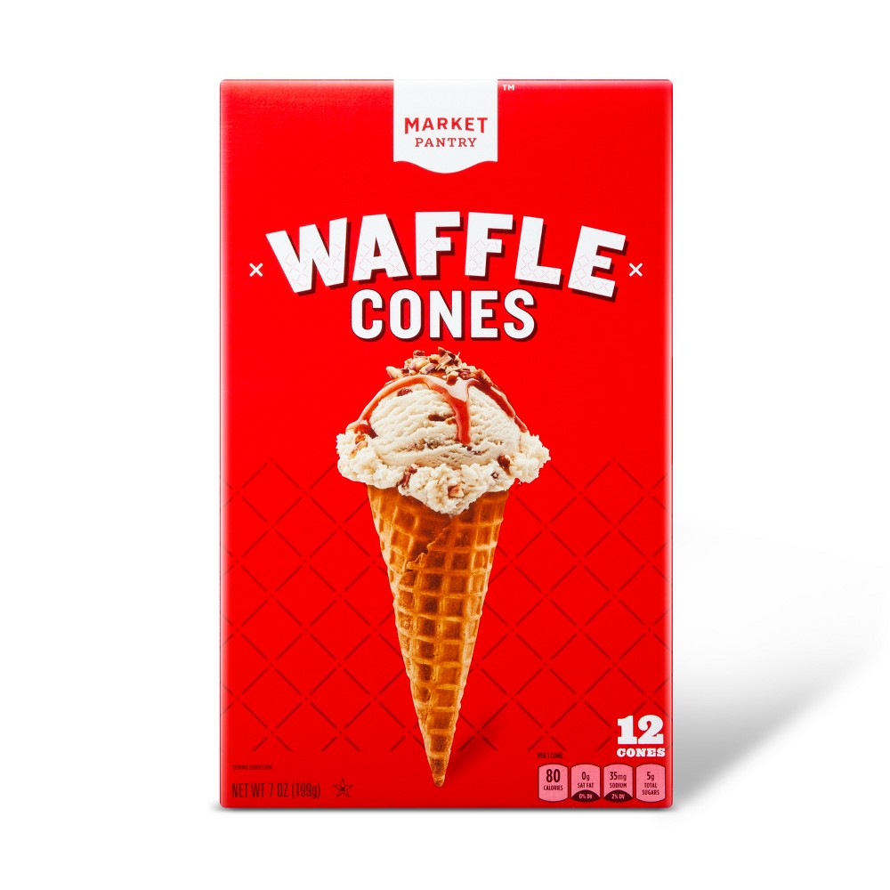 Waffle Cones 7oz 12ct Market Pantry 8482
