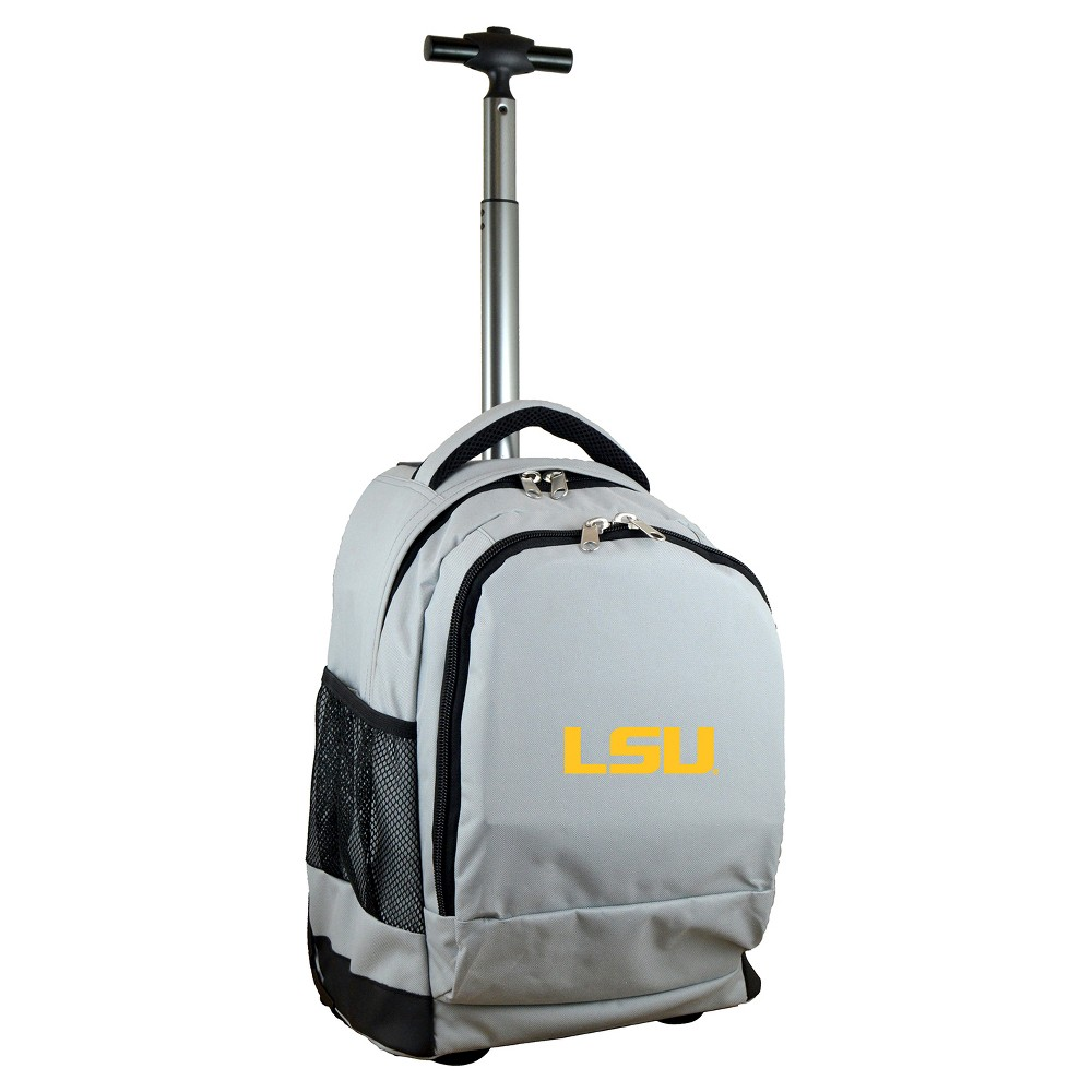 NCAA Lsu Tigers Gray Premium Wheeled Backpack, Purple/Gold