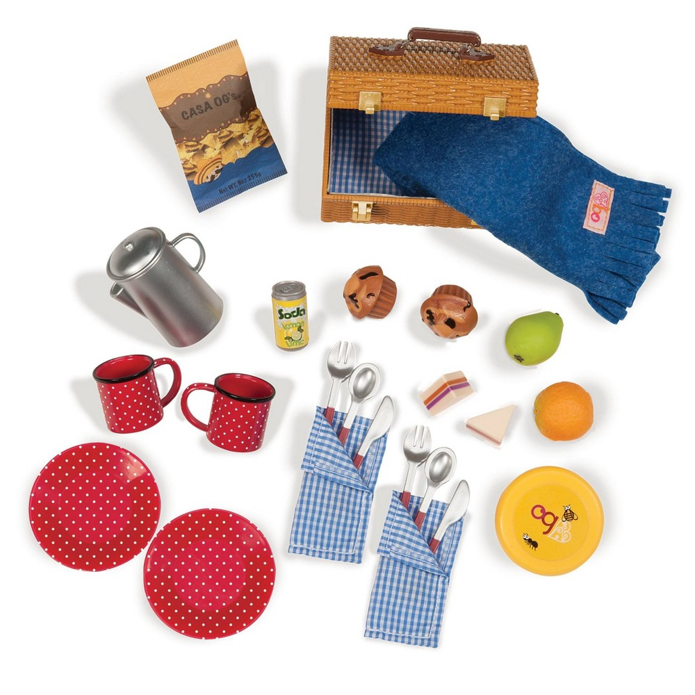 Our Generation Packed For A Picnic Accessory Set For 18 Dolls