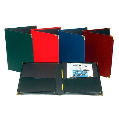 """Marlo Plastics Band and Orchestra Rehearsal Folder 12"""" x 14"""" with Brass Corners and Pencil Loop Black"""