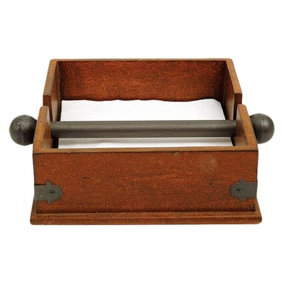 Square Wood & Metal Dinner Napkin Holder - 3R Studios