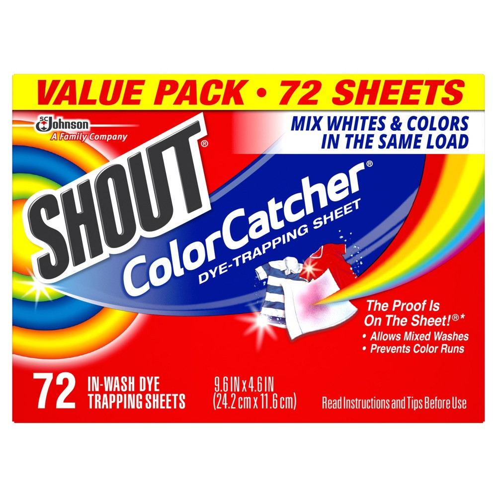 Shout Color Catcher Dye Trapping Sheets - 72ct