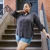 Women's Long Sleeve Button-Down Shirt - Universal Thread™ Navy - image 4 of 4