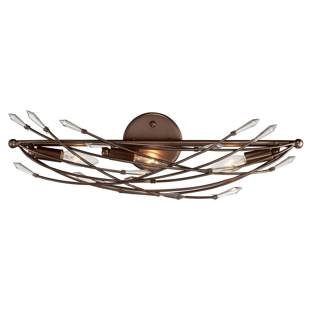 Offshoot 3-Light Bath Light - Bronze - Rogue Décor, Brown