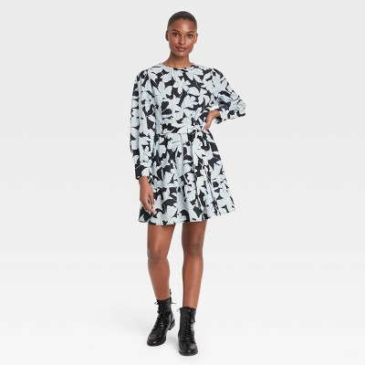 Women's Balloon Long Sleeve Tiered Dress - Who What Wear™
