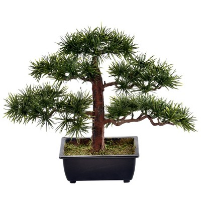 Vickerman Artificial Potted Guest Greeting Pine Tree.