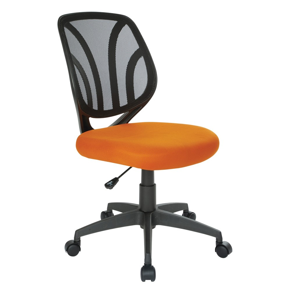 Screen Back Armless Task Chair Orange - Office Star