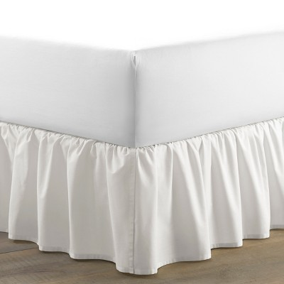 Queen Solid Ruffled Bed Skirt White - Laura Ashley