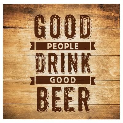 """16ct Cheers & Beers Beverage Napkins - """"Good People Drink Good Beer"""""""
