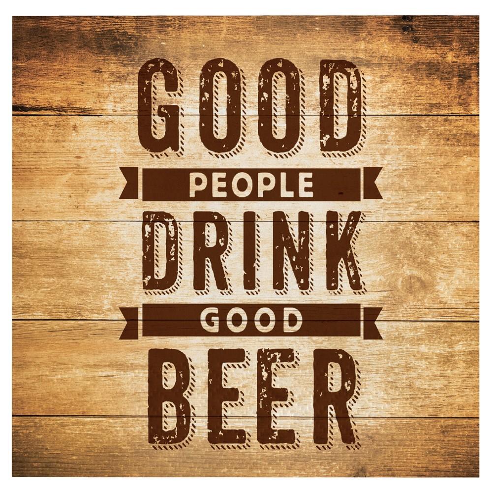 """Image of """"16ct Cheers & Beers Beverage Napkins - """"""""Good People Drink Good Beer"""""""""""""""