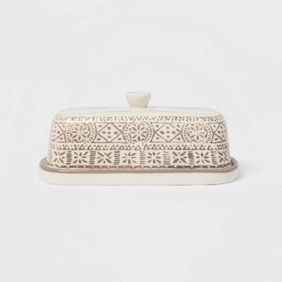 Stoneware Genesis Butter Dish Gray - Threshold™