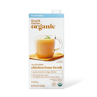 Organic No Salt Added Chicken Bone Broth - 32oz - Good & Gather™