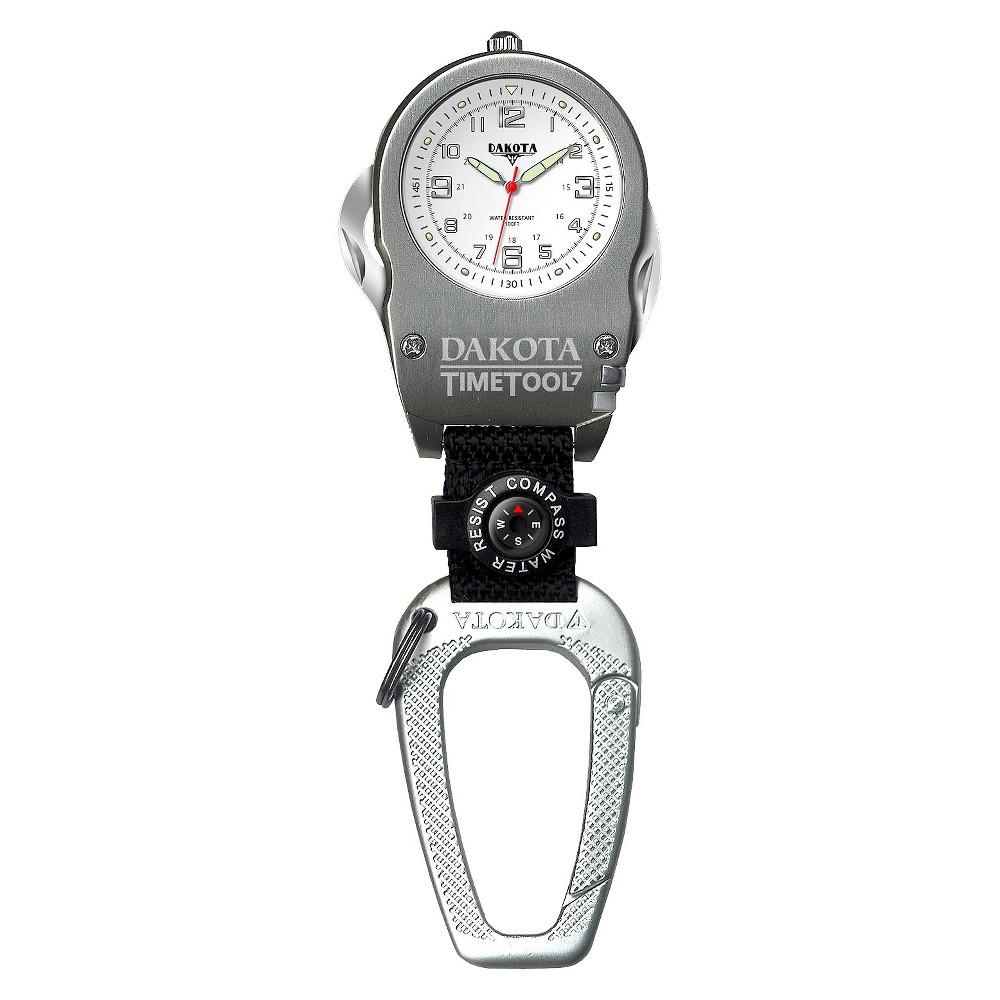 Image of Men's Dakota Multi-Purpose Tool Clip Watch - Silver/White, Size: Small