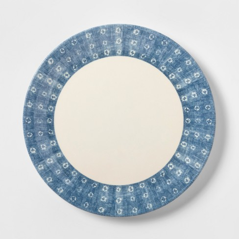 "8.4"" Melamine Salad Plate Blue/White - Threshold™ - image 1 of 1"