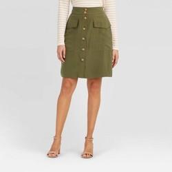 Women's High-Rise Button-Front Skirt - A New Day™