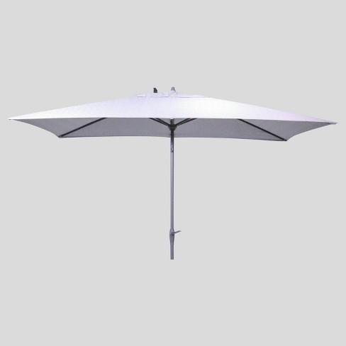 6.5' x 10' Rectangular Patio Umbrella Range Pewter - Ash Pole - Project 62™ - image 1 of 3