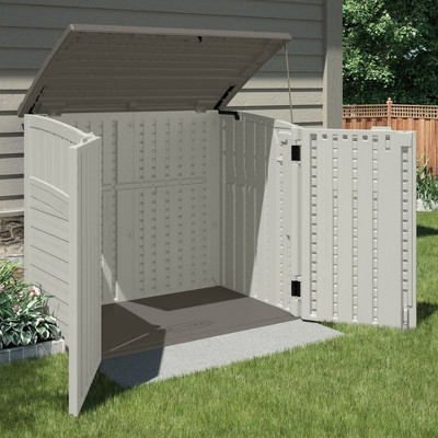 Suncast 34 Cu Durable Resin Horizontal Storage Shed W/ Reinforced Floor (2  Pack)