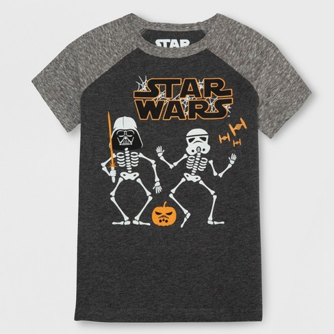 Toddler Boys' Star Wars Short Sleeve T-Shirt - Gray - image 1 of 2