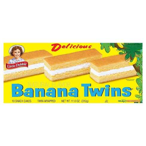 Little Debbie Delicious Natural Flavor Banana Twins 11 oz - image 1 of 1