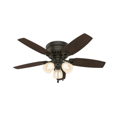 """46"""" Hatherton Ceiling Fan with Light New Bronze - Hunter Fan"""