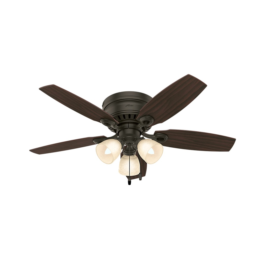 46 Hatherton New Bronze Ceiling Fan with Light - Hunter Fan