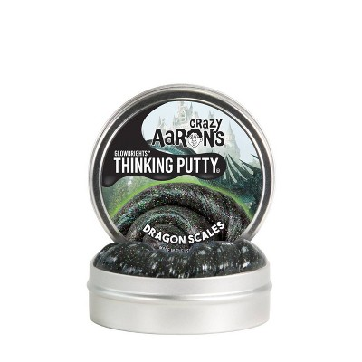 Crazy Aaron's Dragon Scales Thinking Putty Tin with Glow Charger