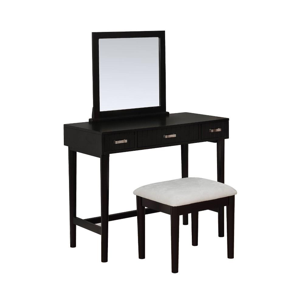 Garbo Vanity Set Black - Linon Garbo Vanity Set Black - Linon