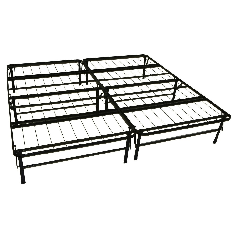 Image of Durabed Steel Foundation & Frame - In - One Mattress Support System Foldable Bed Frame - Epic Furnishings, Size: King, Black