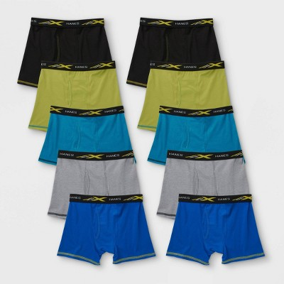 Hanes Premium Boys' 10pk X-temp Underwear - Colors Vary