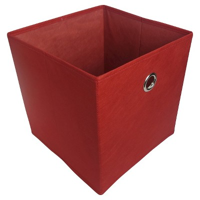 Fabric Cube Storage Bin Red 11  - Room Essentials™