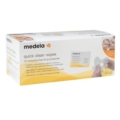Medela Quick Clean Breast Pump & Accessory Wipes - 40ct