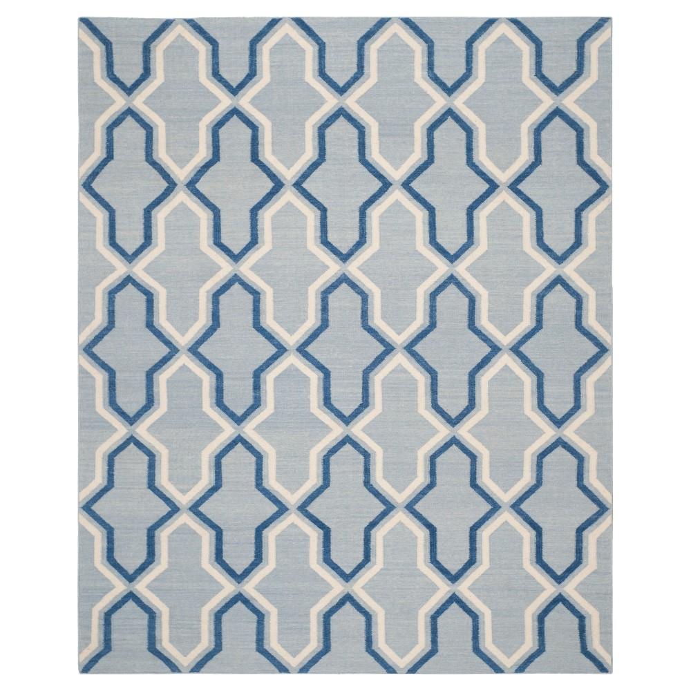 Safi Dhurry Area Rug - Light Blue/Dark Blue (6'x9') - Safavieh